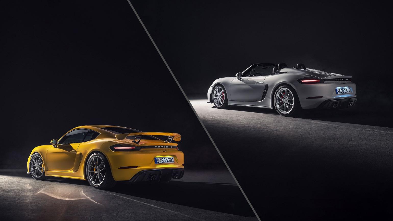 Porsche 718 Boxster Spyder ja Cayman GT4 on saabunud